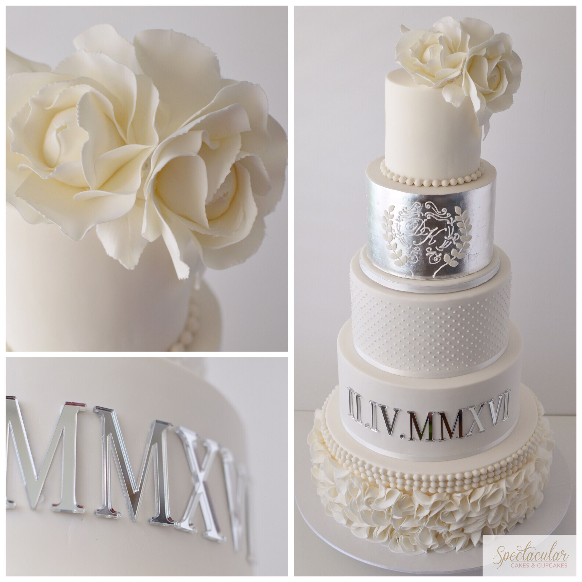 Silver Wedding Cake Sydney