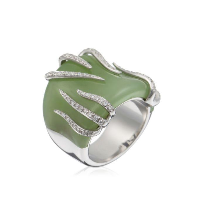 A unique Recarlo  ring with Nephrite Jade and Diamonds :)