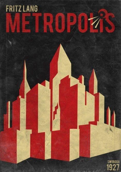 Minimalist Metropolis Movie Poster By Olivia Plakater