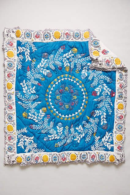 Zocalo Embroidered Quilt Embroidered Quilts Quilted Coverlet Quilts