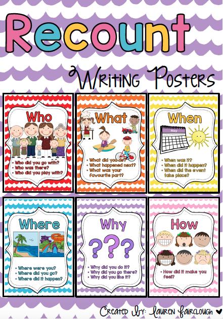 Year 1 Recount Writing Mini Unit: 10 Writing Lesson Plans