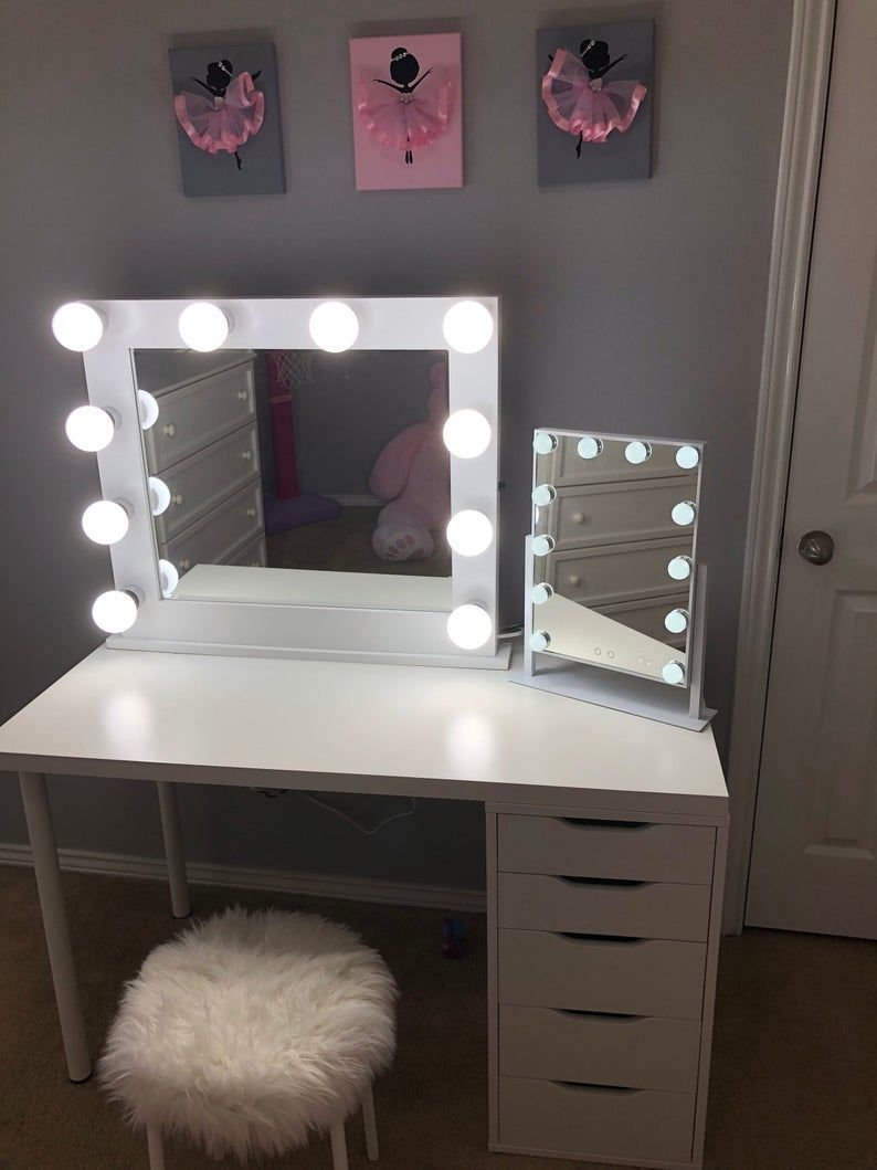 low shipping & financing vanity mirror with lights | etsy