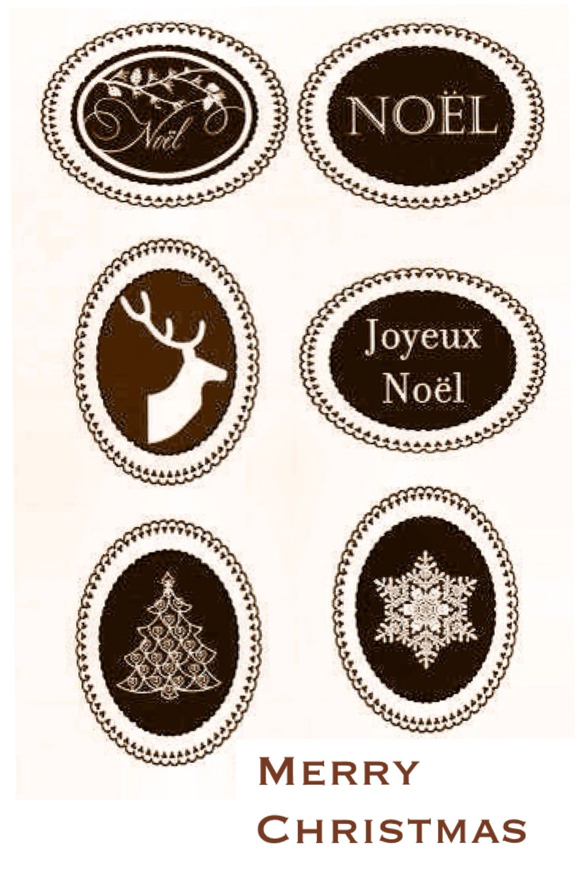 Free printable christmas labels rustic labels and tags for Can you print stickers at staples