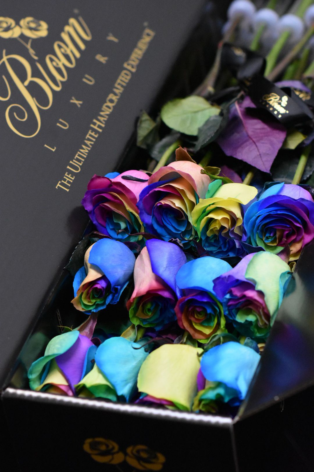 Out of this world happiness. BloomLuxury rainbow roses