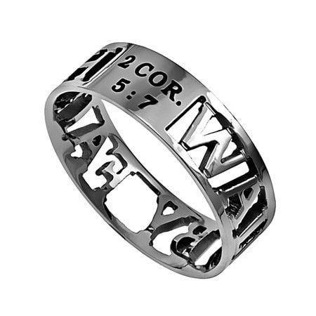 'Walk By Faith' - Women's Mini Silhouette Ring
