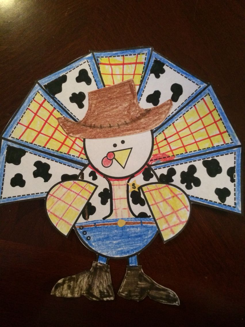 Toy Story Themed Woody Turkey In Disguise Turkey Disguise Turkey Disguise Project Turkey Project