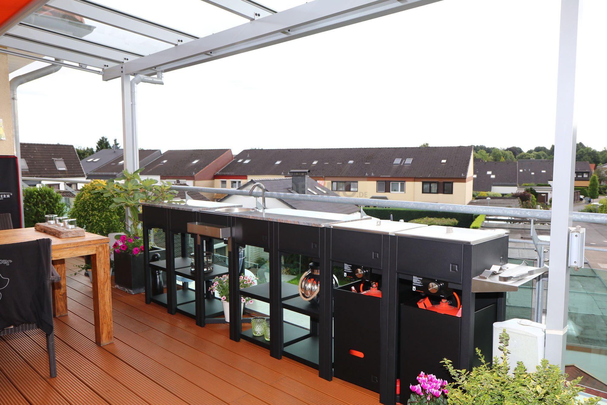 Inspiration Modulare Outdoor Kuche Von Oneq Auf Dem Balkon Mit