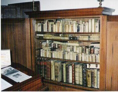 Studio contenente i libri che Spinoza leggeva (copie) nel Museo spinoziano di Rijnsburg.