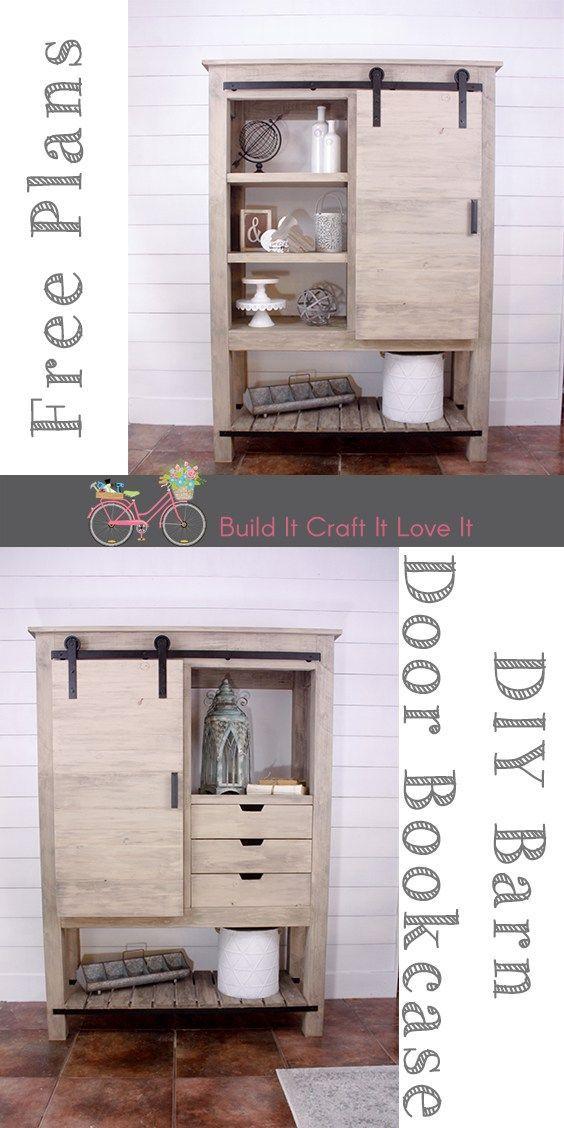 DIY Barn Door Bookcase – Arhaus Inspired