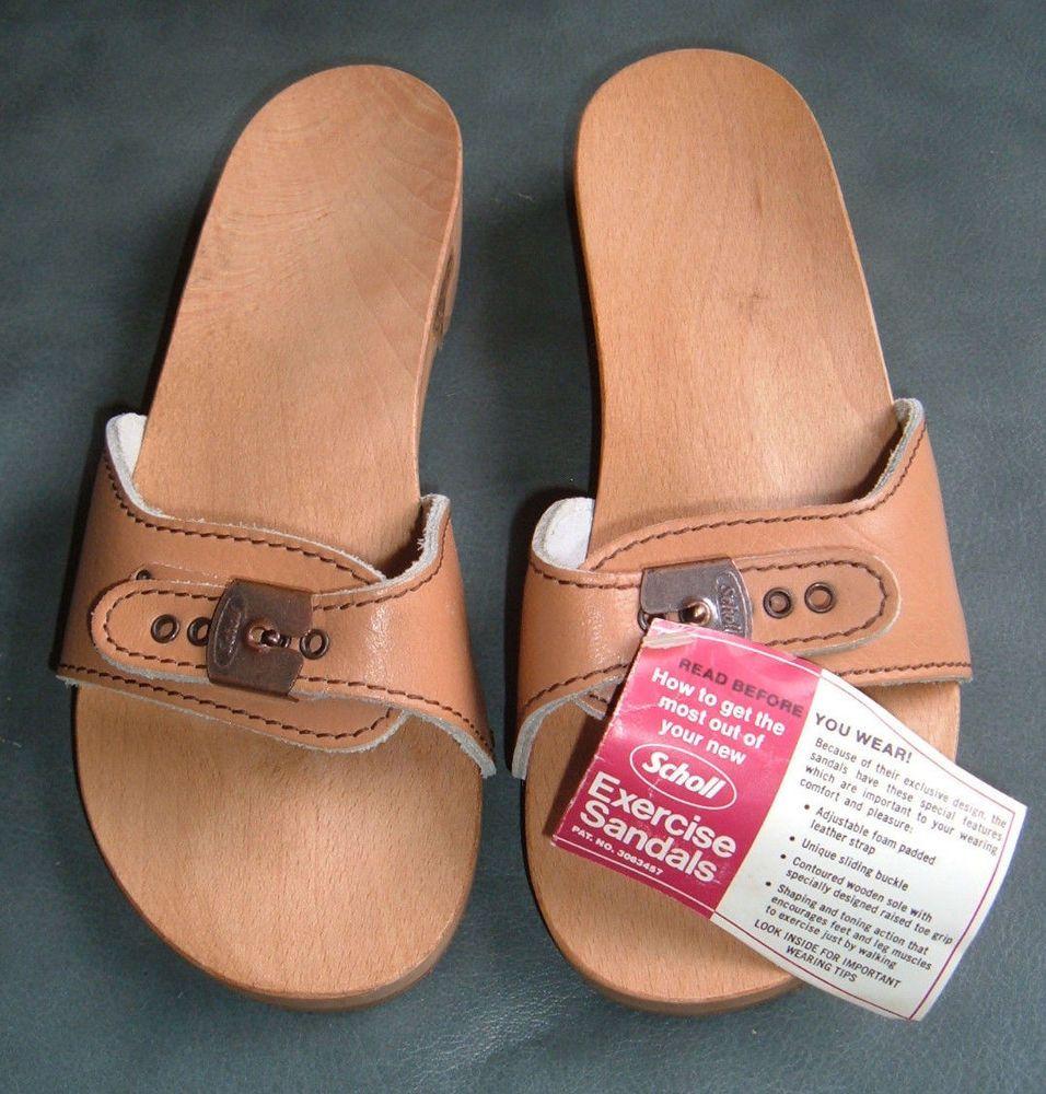 2729a4162ff NWT Vintage 1978 Dr SCHOLL EXERCISE SANDALS Wood/Leather Clogs Shoes 9  AUSTRIA #DrScholls #SandalsFlipFlops