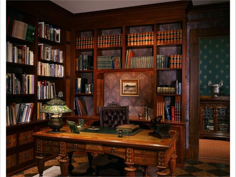 Victorian Gothic Interior Style Fiction Elliotts Office
