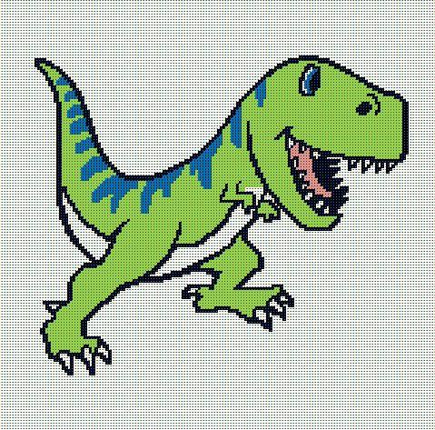 Dino Land Dinosaur Blanket//Afghan C2C Graphghan Crochet Pattern