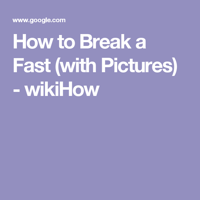 How to Break a Fast (with Pictures) - wikiHow   Water