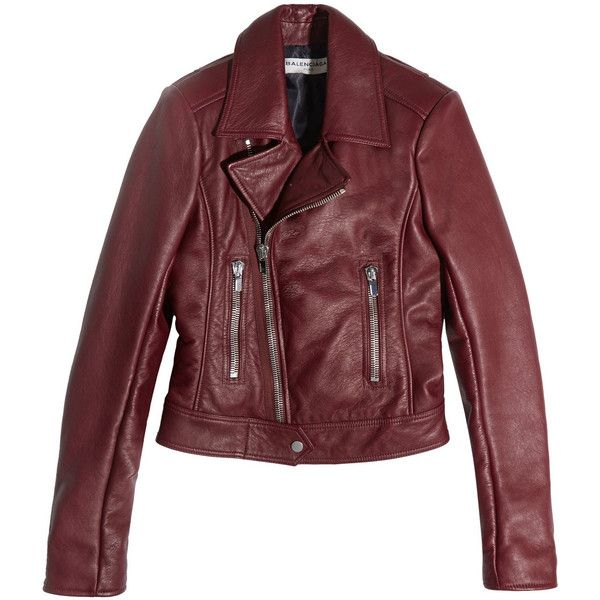 balenciaga leather moto jacket