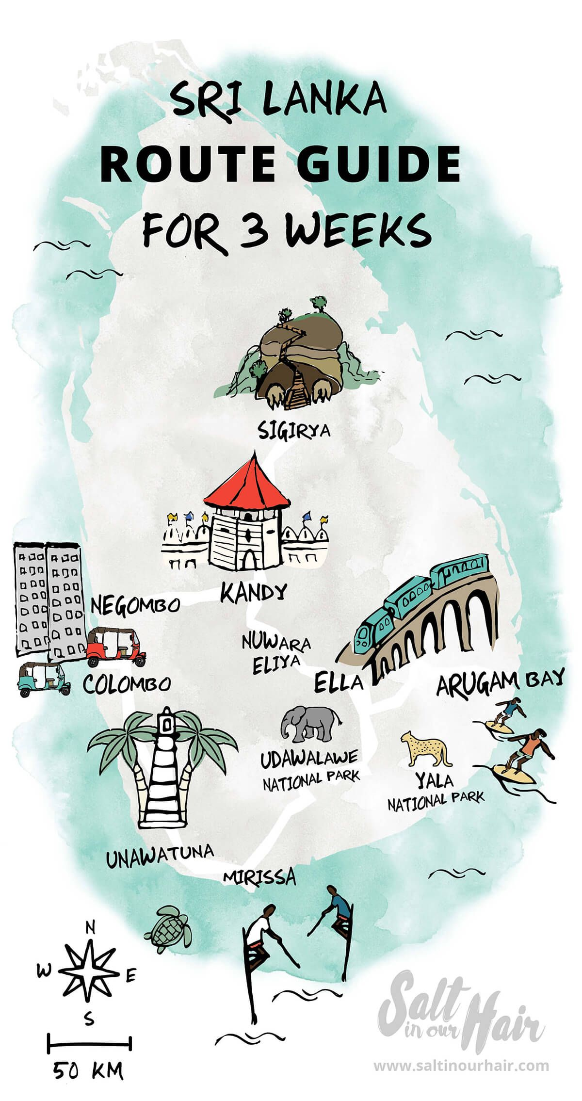 Sri Lanka Route Guide Rejser Fotos Og Kort