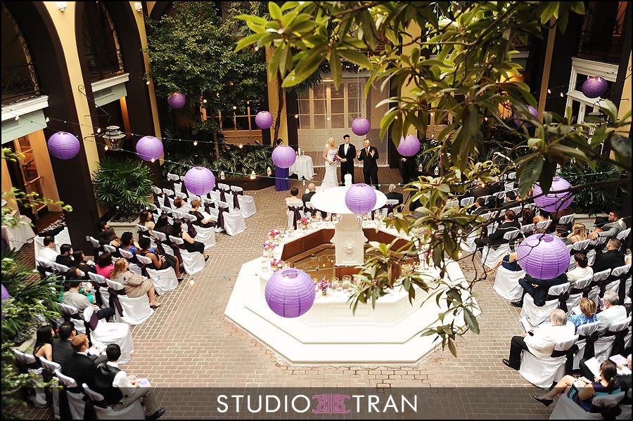 French Quarter Courtyard Ceremony At Hotel Mazarin Www Hotelmazarin Studio Tran Photographers