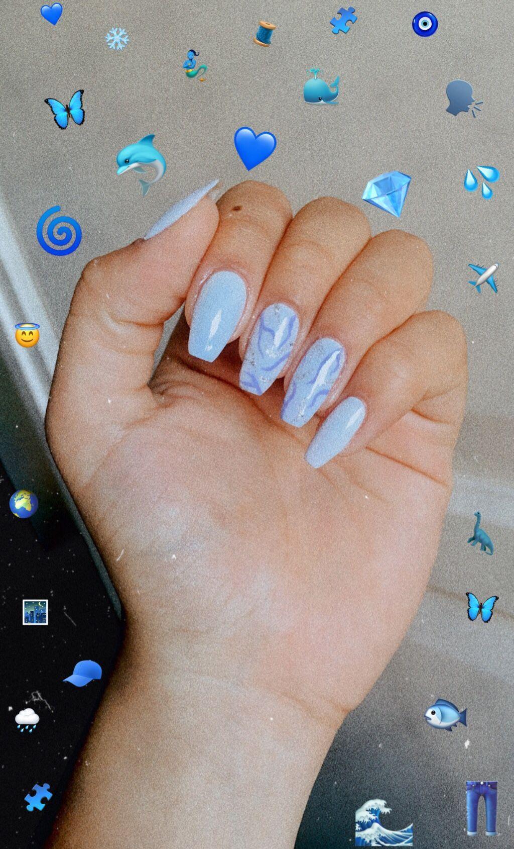 Pin By Lila Sagbigsal On Nails In 2020 Glamour Nails Nails Pastel Blue Nails