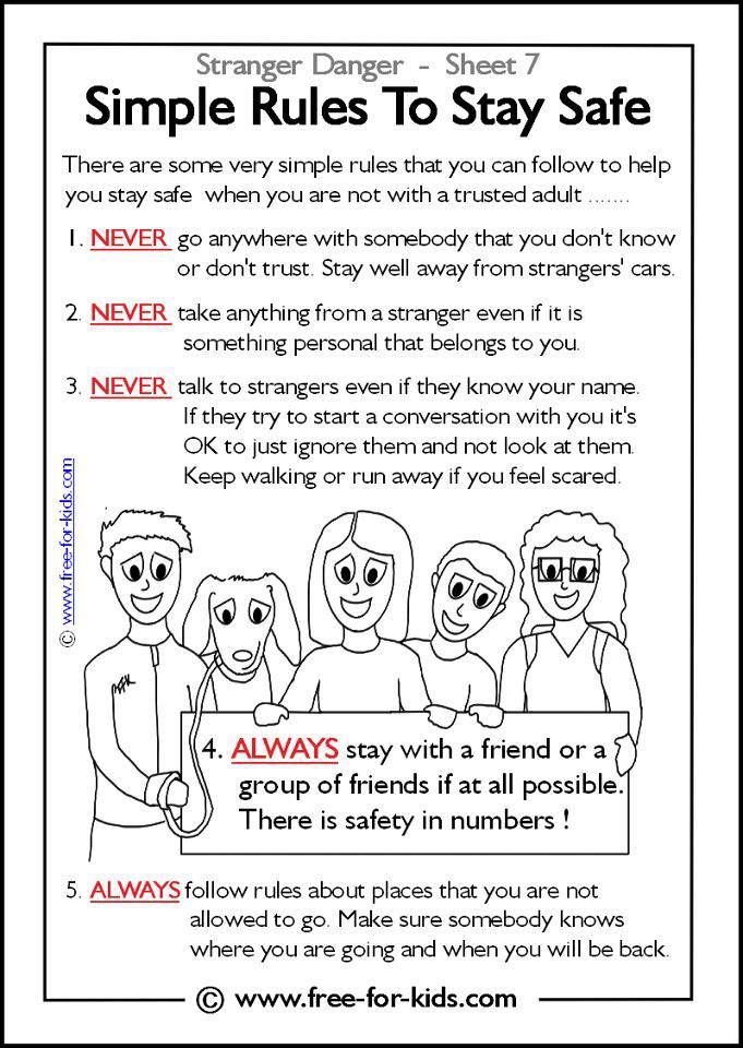 Does your child know the rules to stay safe in the