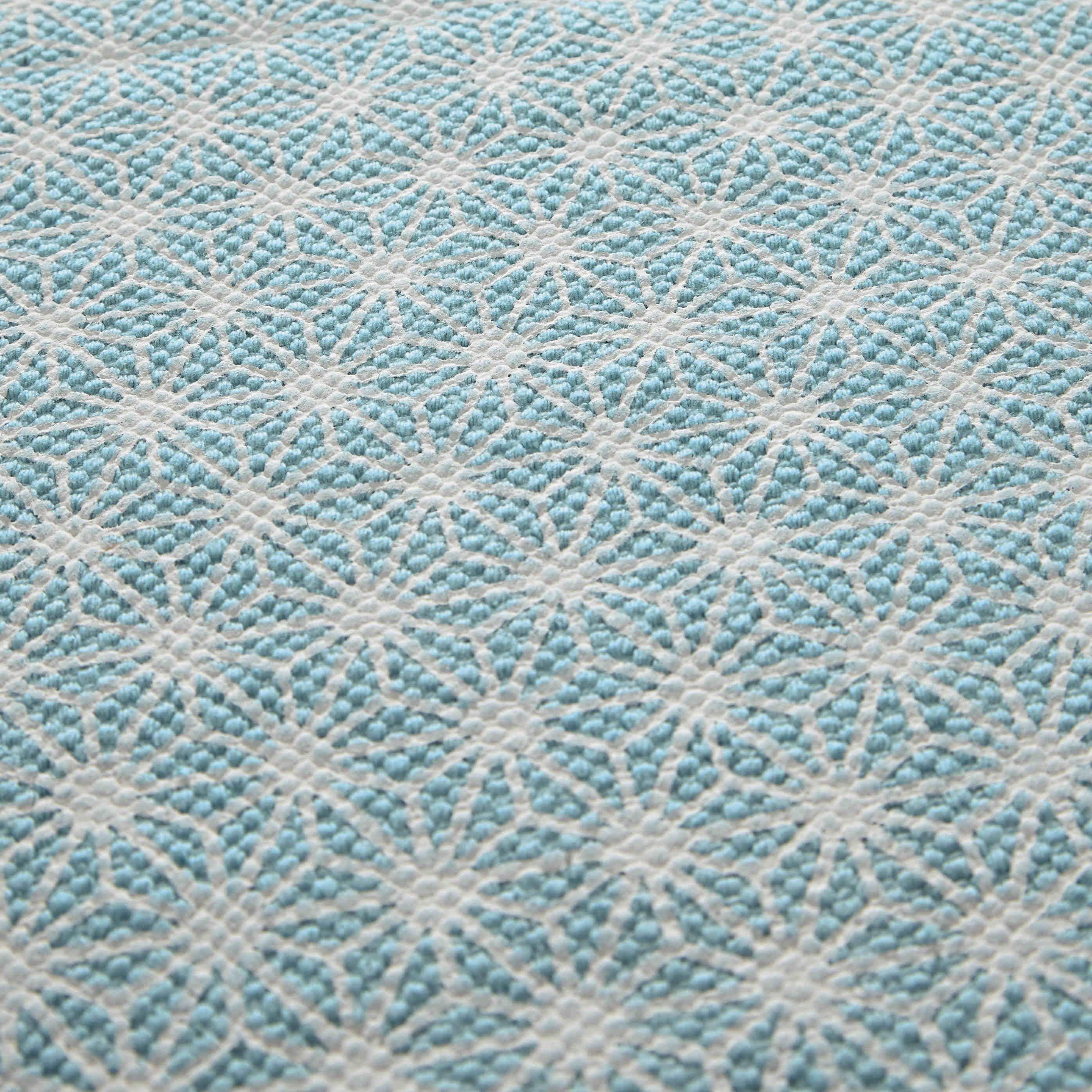 Tapis en coton bleu 60 x 120 cm ORIGAMI | Maisons du Monde | Asahona ...