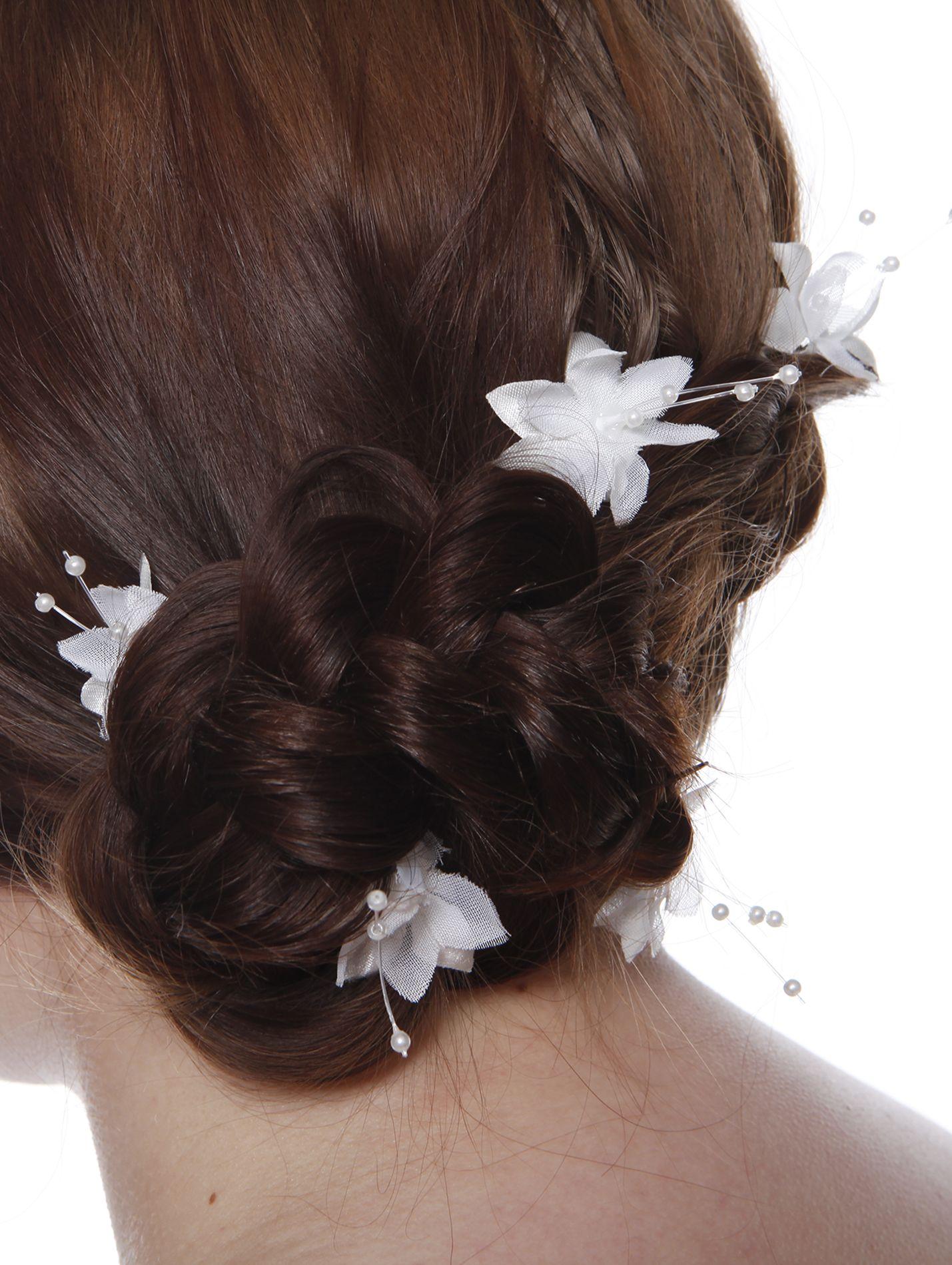 Bridal hair accessories babys breath - Stargem Handmade White Flowers Hairpins Made With White Baby S Breath Bridal Hair Accessoriesbaby S