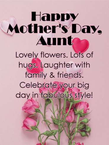 lovely flower happy mother s day card for aunt here s the perfect