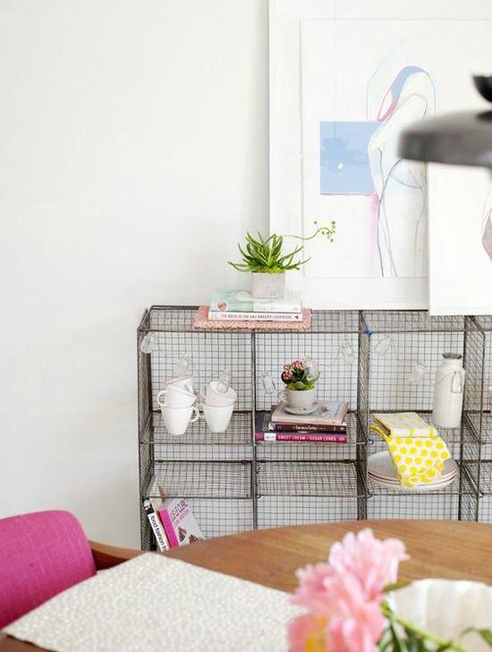 Wire shelving / storage idea / living room storage ...