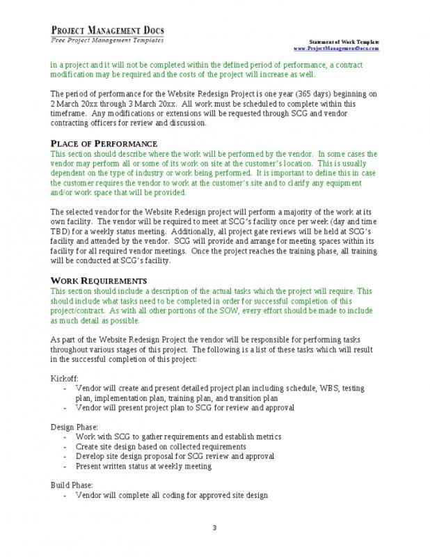 statement of work template pinterest public realm template