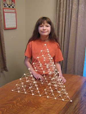 Building A Bigger Pyramid Marshmallow And Toothpick Tetrahedrons Take Ii Stem Challenges Egypt Activities Pyramids