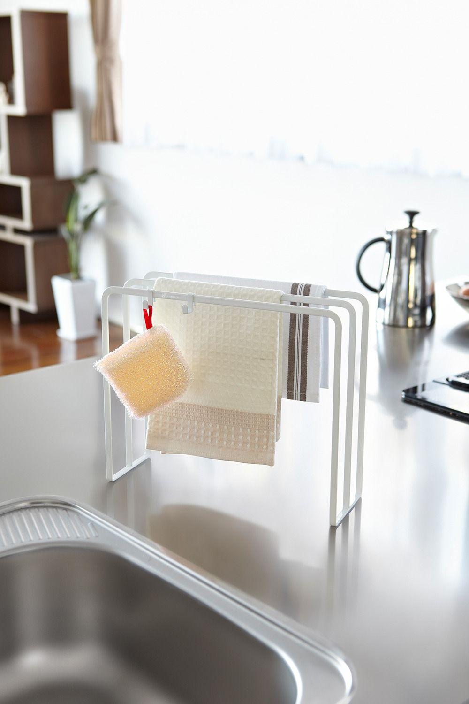 布巾ハンガー タワー Dish Cloths Towel Hanger Kitchen Space Savers