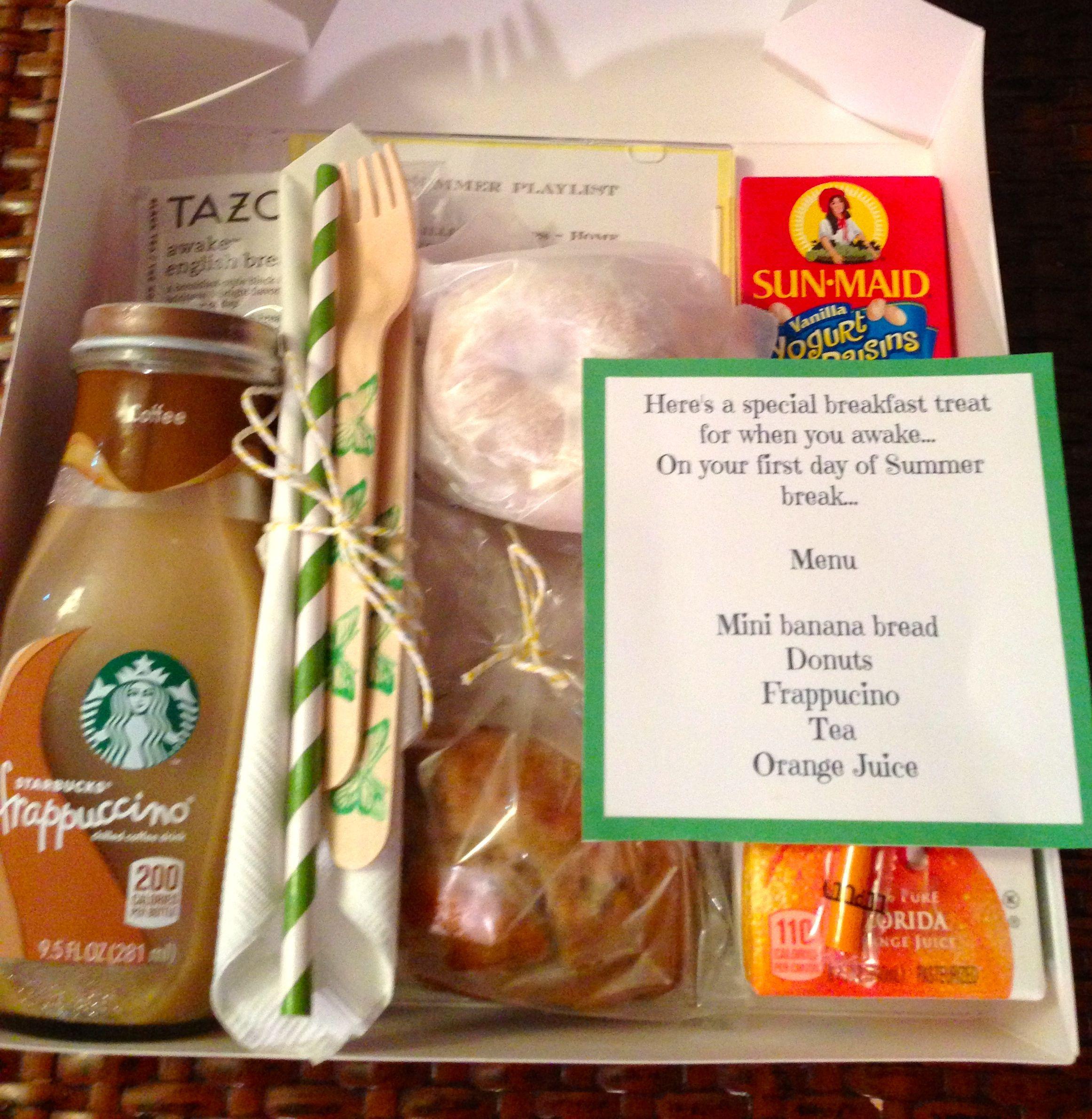 End Of Year Teacher Breakfast Boxes For Teachers On Their