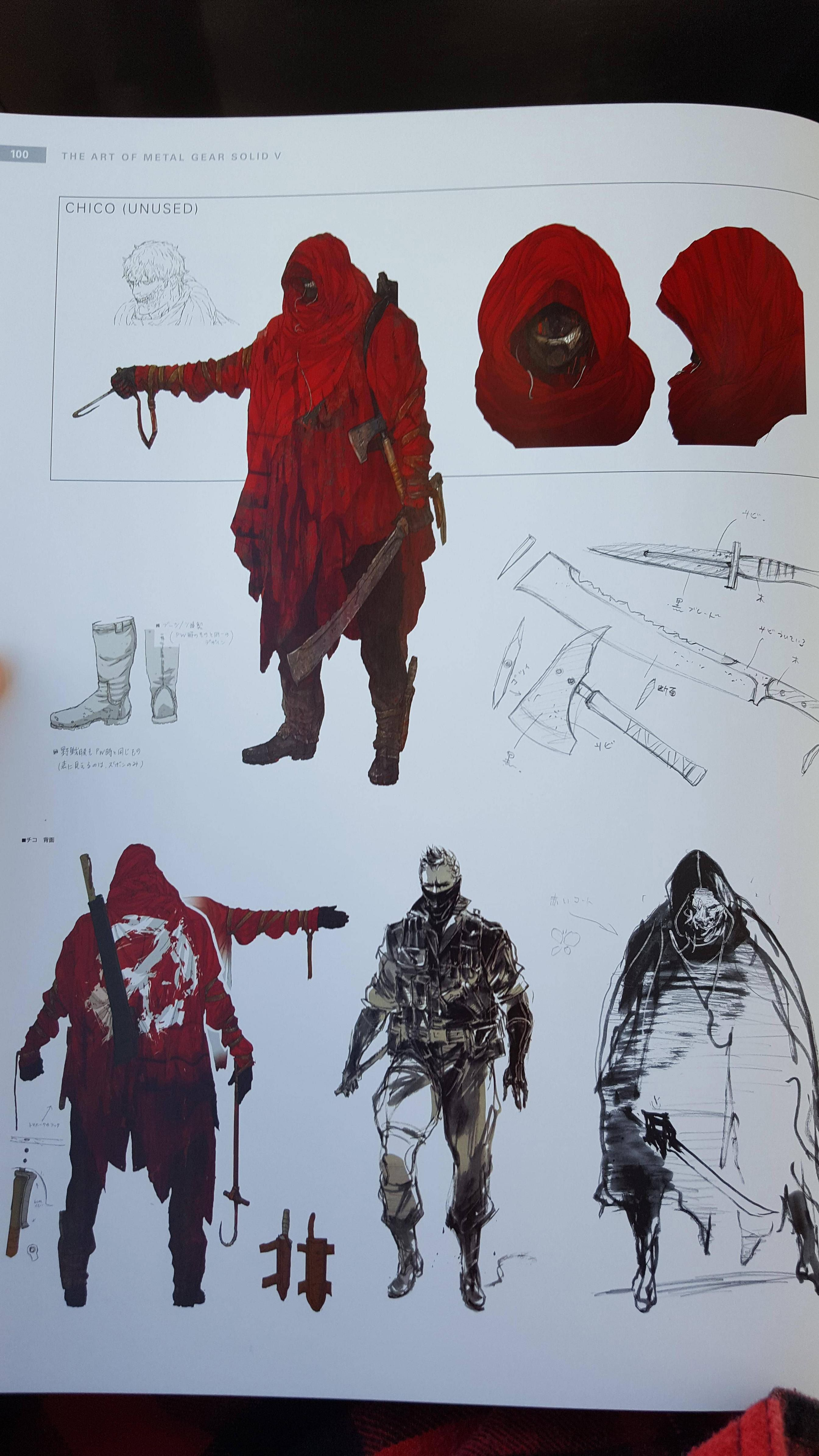 Unused Chico art -- Chico comes back as the Azrael of the MGS series ...
