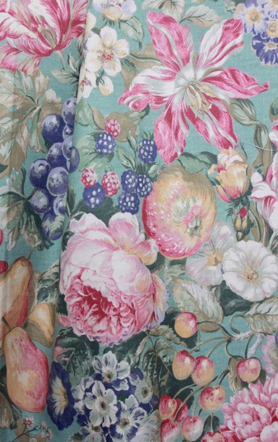 Vintage Floral Upholstery Fabric By Western By Fancyluckycouturier Floral Upholstery Floral Upholstery Fabric Upholstery Fabric