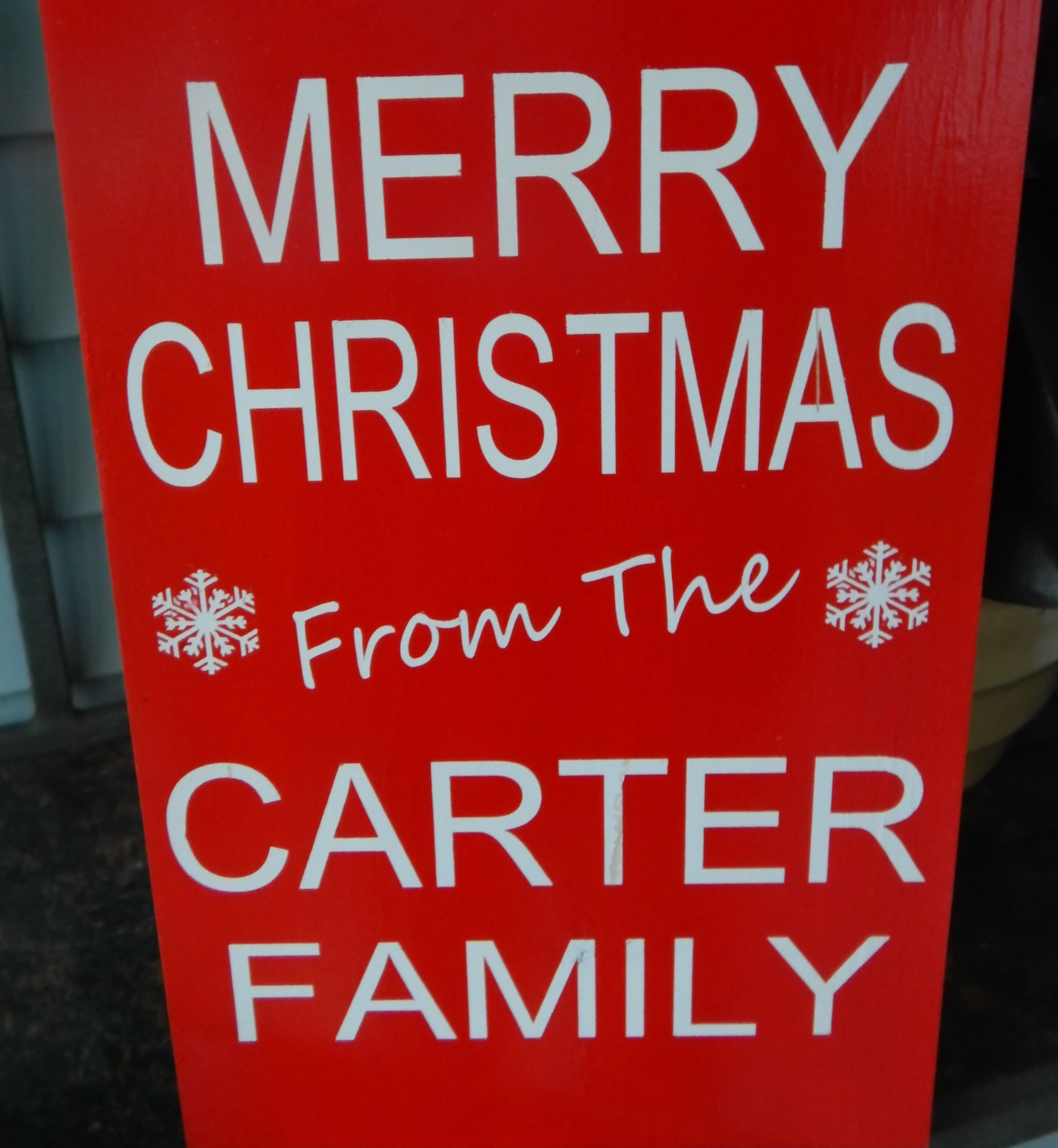 Personalized Customizable 12 x 18 inch Merry Christmas FamilyWooden