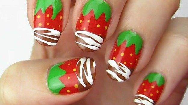 Ambrosial Strawberry Nail Art Design For Trendy Summer Look - Yummy Strawberry Nail Art Design Tutorial Strawberry Nail Art