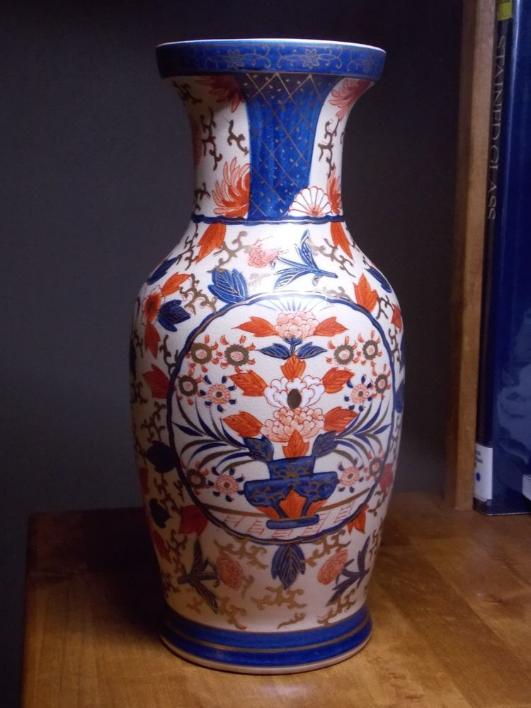 Vintage Satsuma Vase Old Japanese Ceramic Ttle Jones Decoration