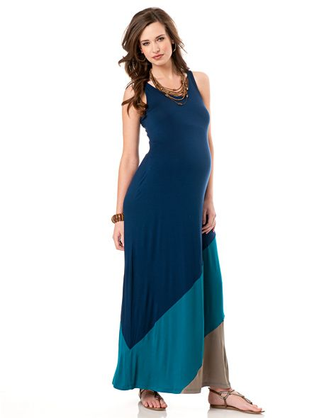 116afb1176d A Pea in the Pod Sleeveless Navy Colorblock Maternity Dress
