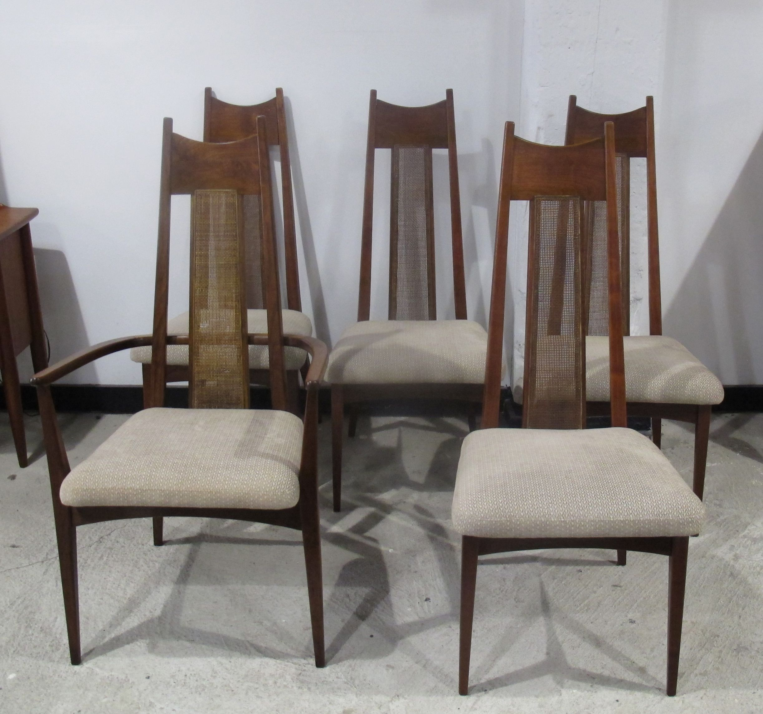 SET OF FIVE MID CENTURY ADRIAN PEARSALL STYLE HIGH BACK ...