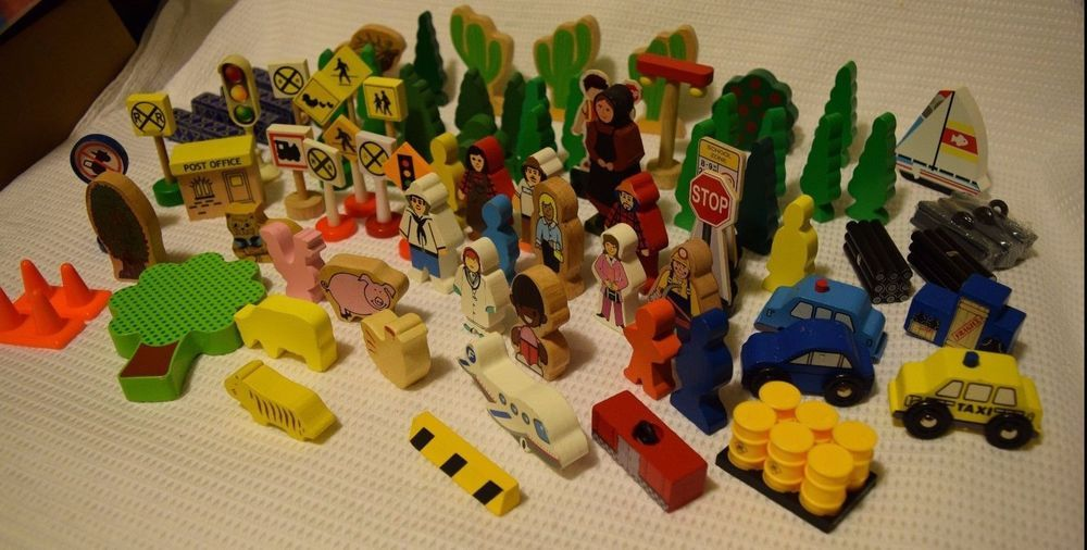 Large Lot Thomas Friends Railway Wood Figures Trees Signs