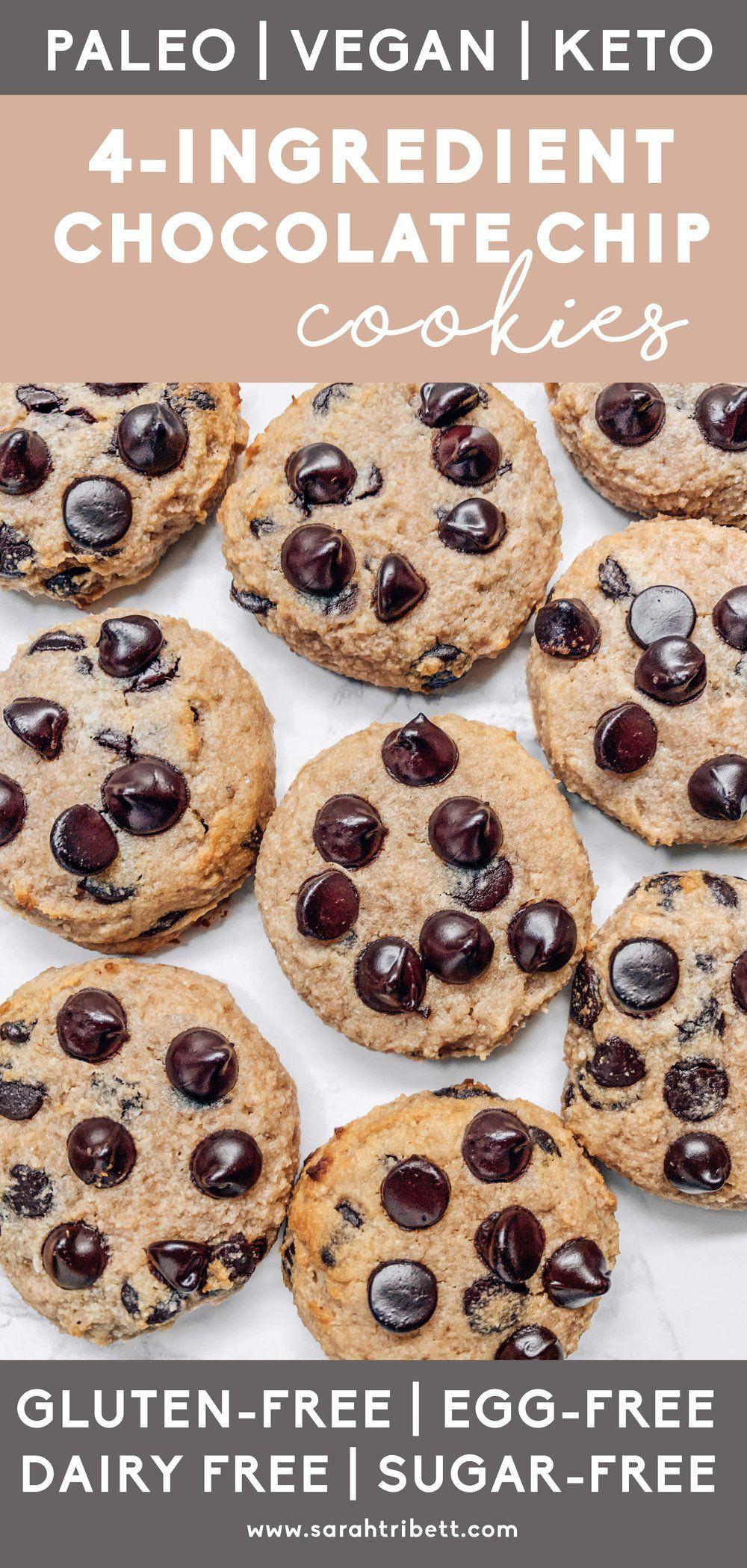 4ingredient healthy chocolate chip cookies gluten free