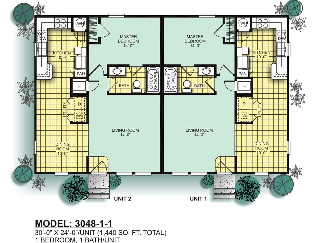 Modular Duplexes Oak Creek Homes Duplex Floor Plans Floor