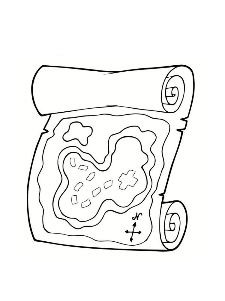coloriage carte au trésor   pirate   Pinterest   Dessin de ...