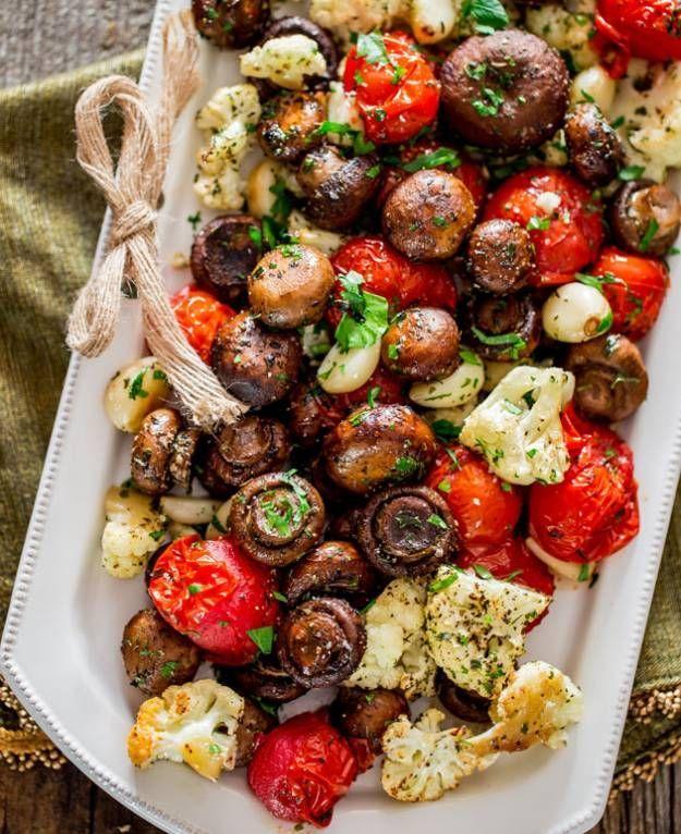 Italian Roasted Mushrooms And Veggies 16 Christmas Dinner Ideas Guaranteed To Make Your Night Memorable