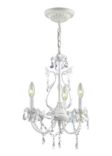 41 hampton bay kristin 3 light crystal glass prisms chandelier hampton bay kristin hanging antique white mini chandelier from home depot for hannahs room aloadofball Image collections
