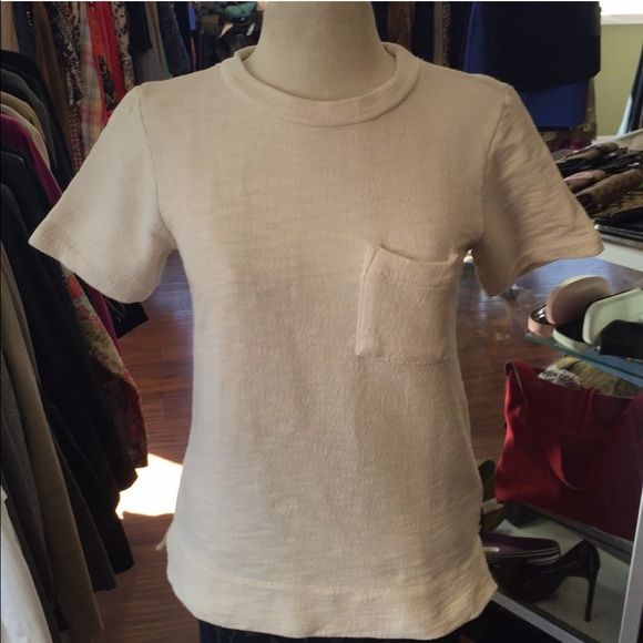 J. Crew short sleeve sweatshirt pocket tee Excellent condition no flaws. No pay pal or trades. Price firm. J. Crew Tops Sweatshirts & Hoodies