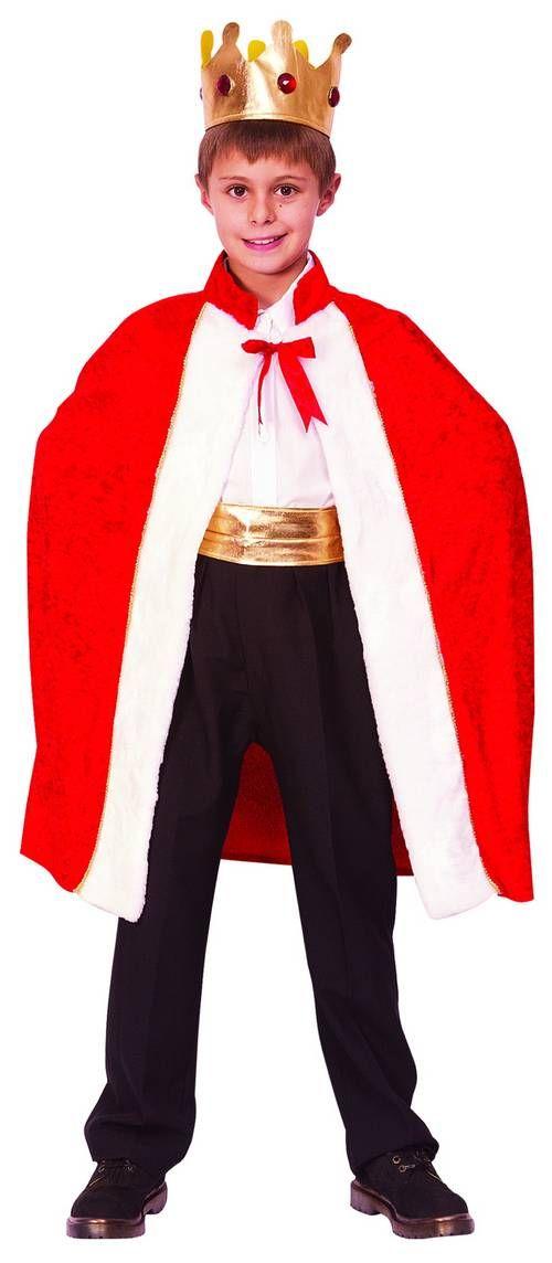 Mantello e corona da re per bambino  Questo costume di Carnevale per  bambino comprende una 935fde969b1