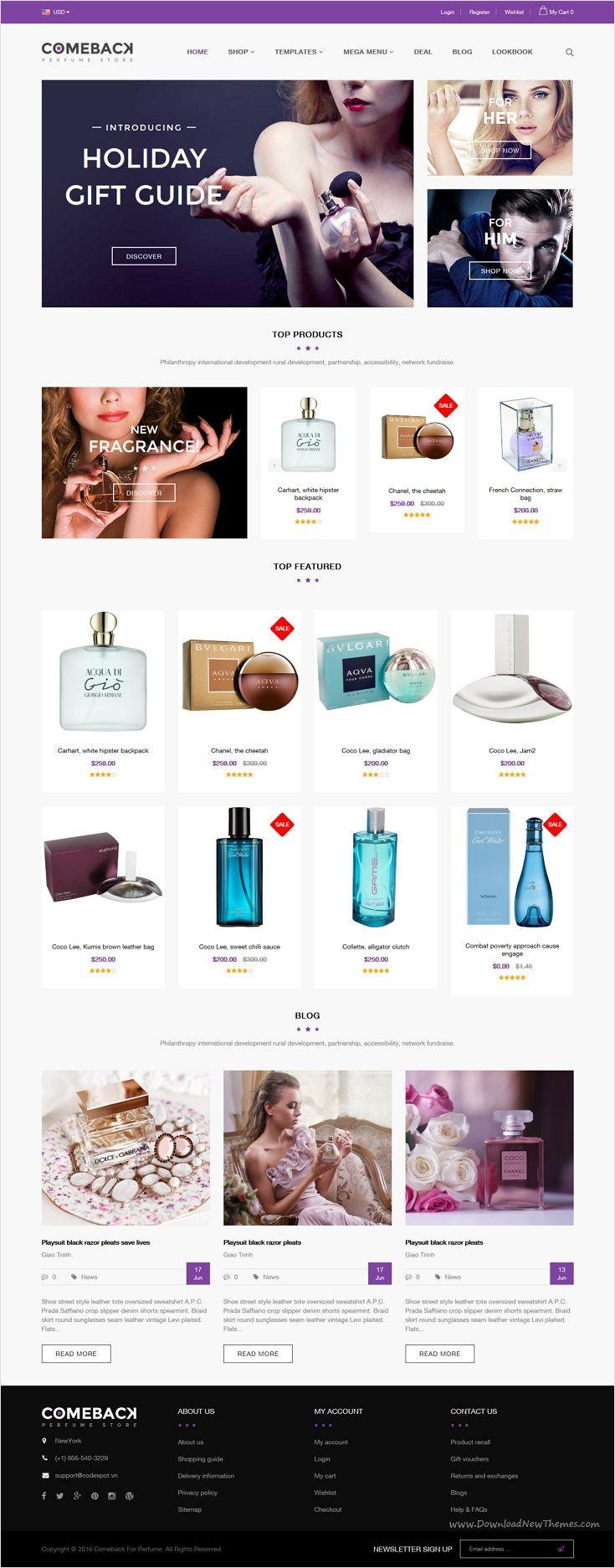 Comeback Advanced Shopify Theme Option Drag and Drop
