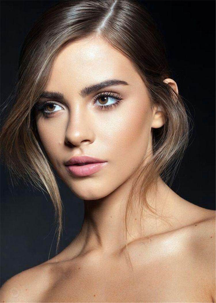 40 Most Attractive Natural Wedding Make Up Looks With Images Bridal Makeup Natural Brunette Makeup Wedding Day Makeup