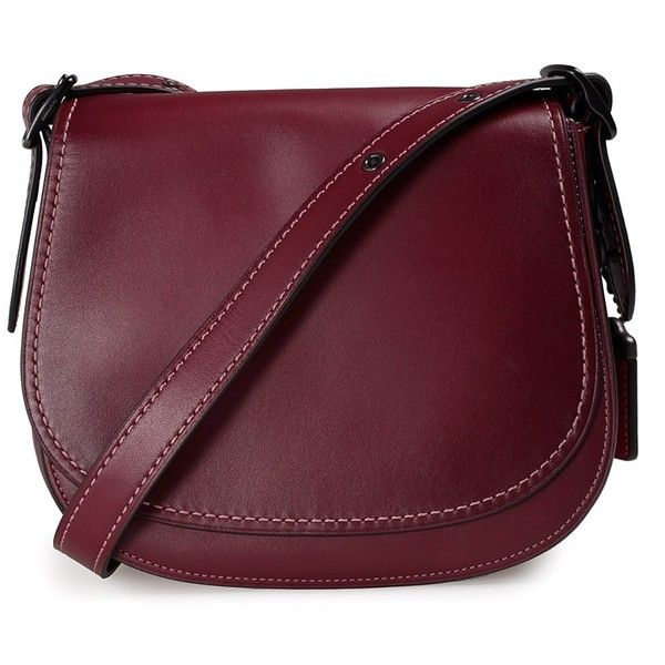 Cross Body Bags - 23 Leather Saddle Bag Bordeaux - red - Cross Body Bags for ladies Coach 7soCbmu
