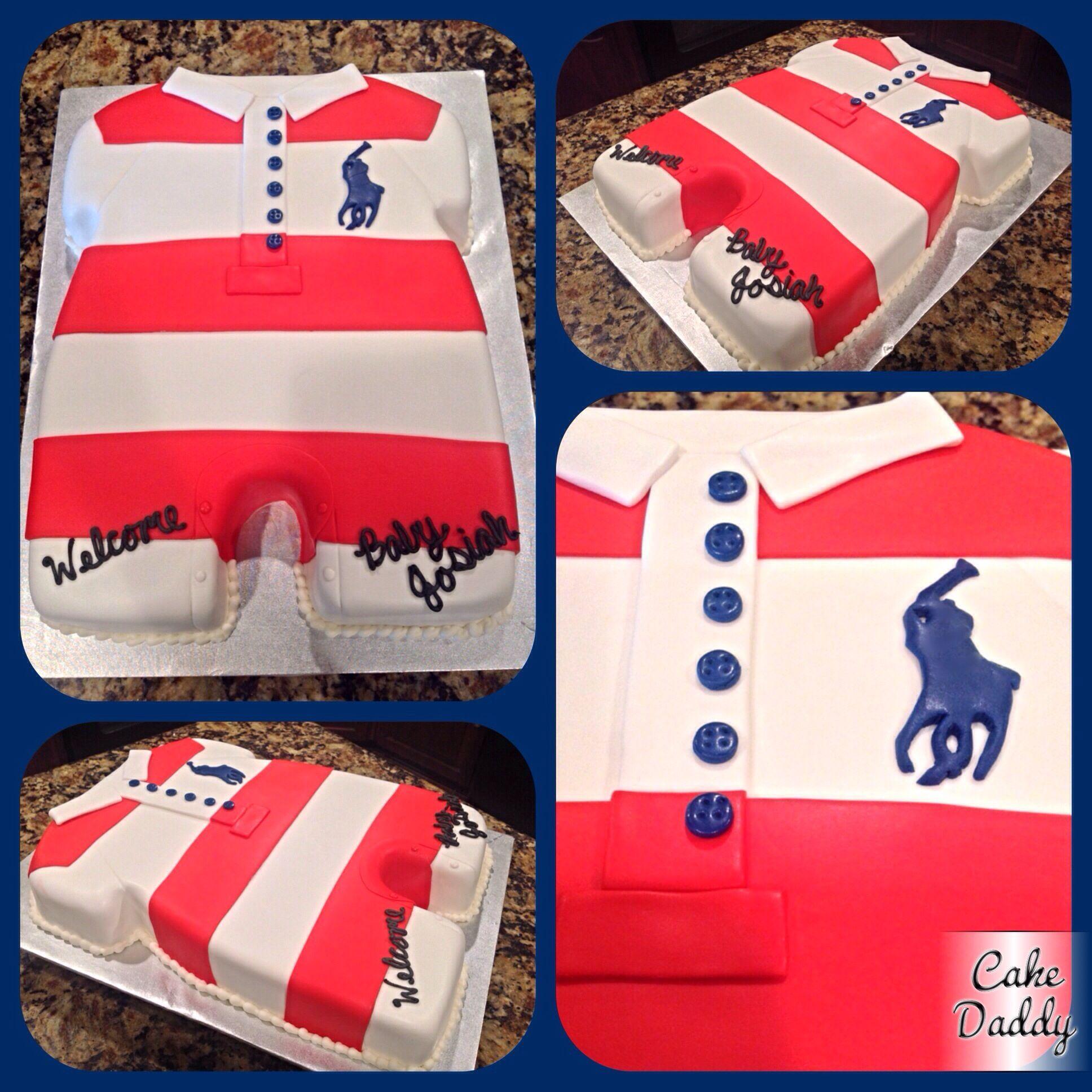 Polo Onesie Baby Shower Cake.