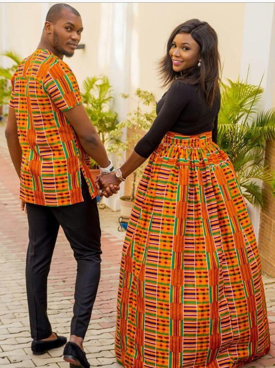 Kente couple combination african fashion ankara kitenge african
